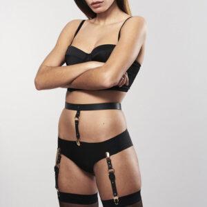 Maze - vegan leather suspenders