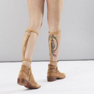 knee garters brown